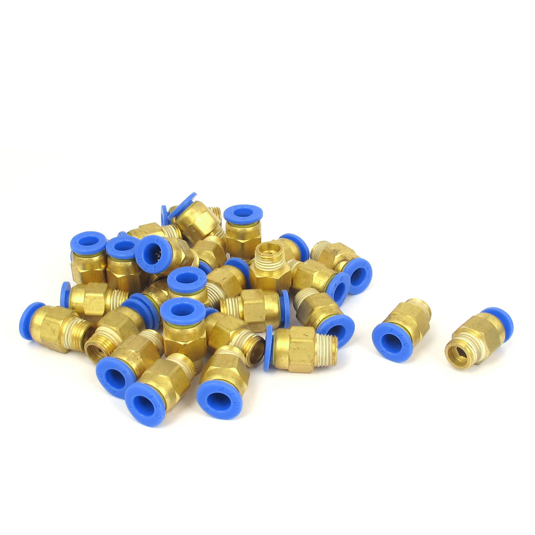 30 Pcs 1/8BSP Male Threaded 6mm OD Tube Straight Push in Quick Connect Fittings