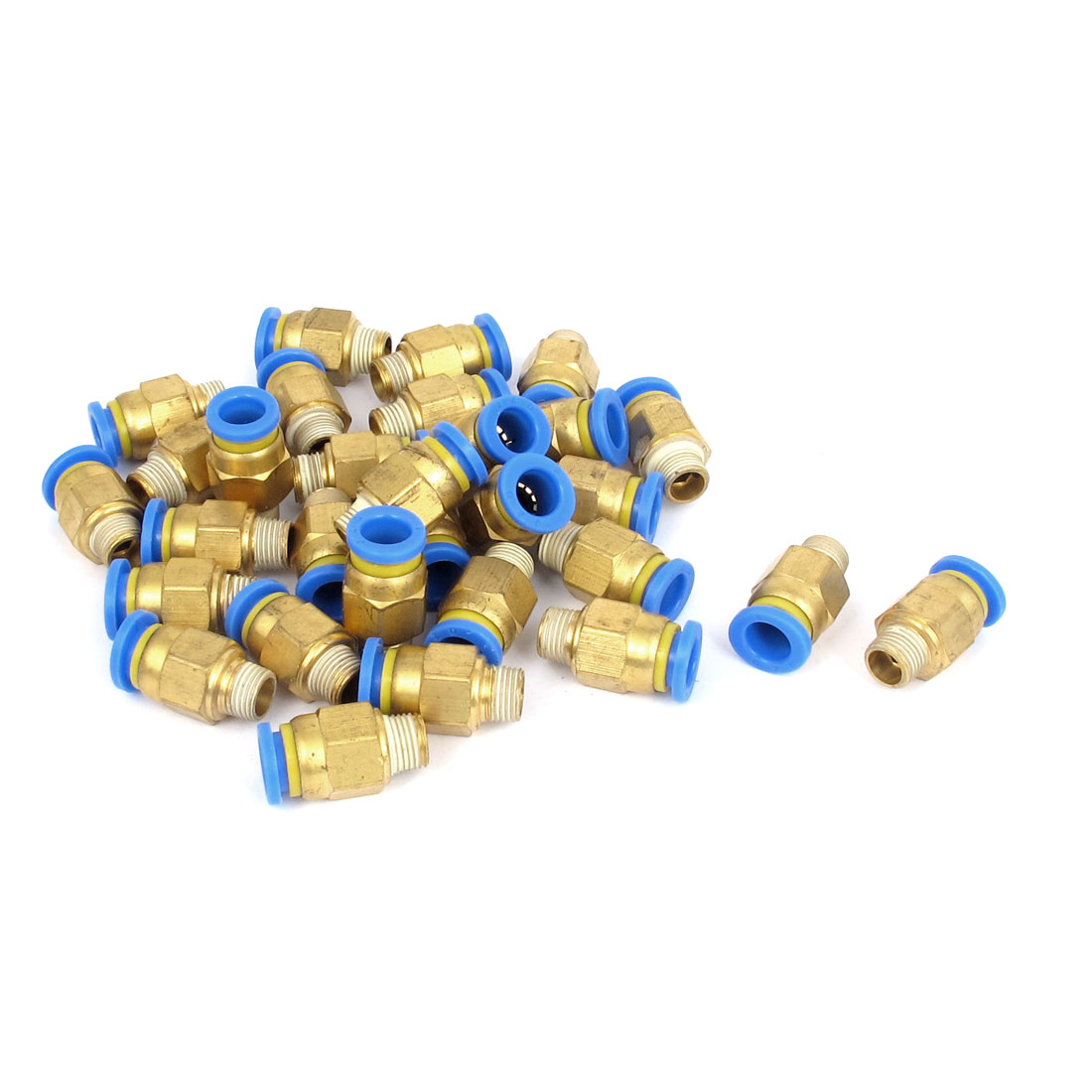 30 Pcs 1/8BSP Male Thread 8mm Push in Joint Pneumatic Connector Quick Fittings