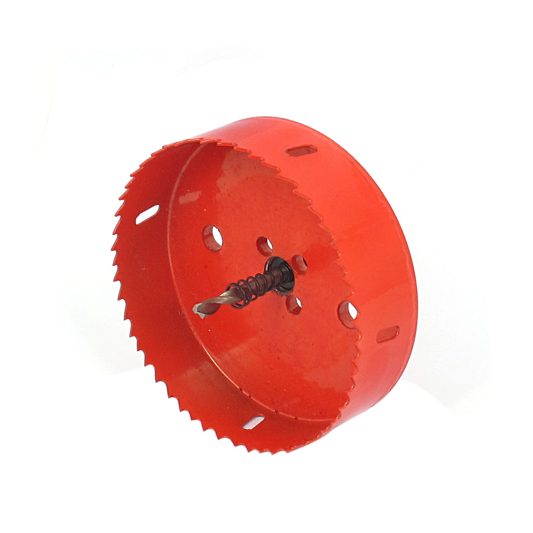 6mm Drill Bit 125mm Cutting Diameter Hole Saw Red for Drilling Wood