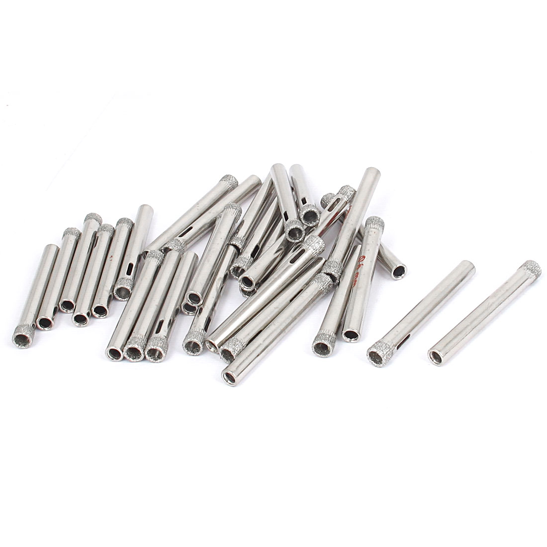 6mm Diamond Coated Core Round Shank Drill Bits Tile Marble Glass Hole Saws 30pcs