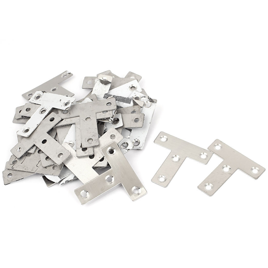50 Pcs 50mmx50mm T Shaped Corner Brace Flat Repair Angle Plate Brackets