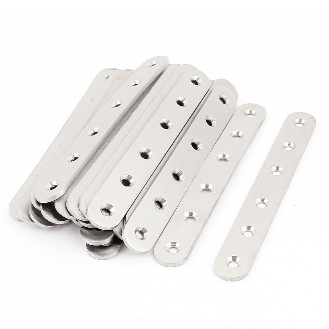 20 Pcs 155mm x 3mm Flat Brackets Straight Mending Plates Repair Fixing Joining