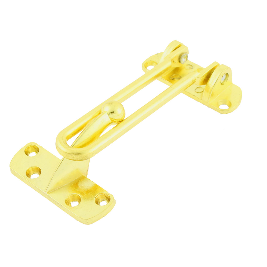 Home Office Metal Swing Arm Door Security Chain Locking Guard Latch Gold Tone