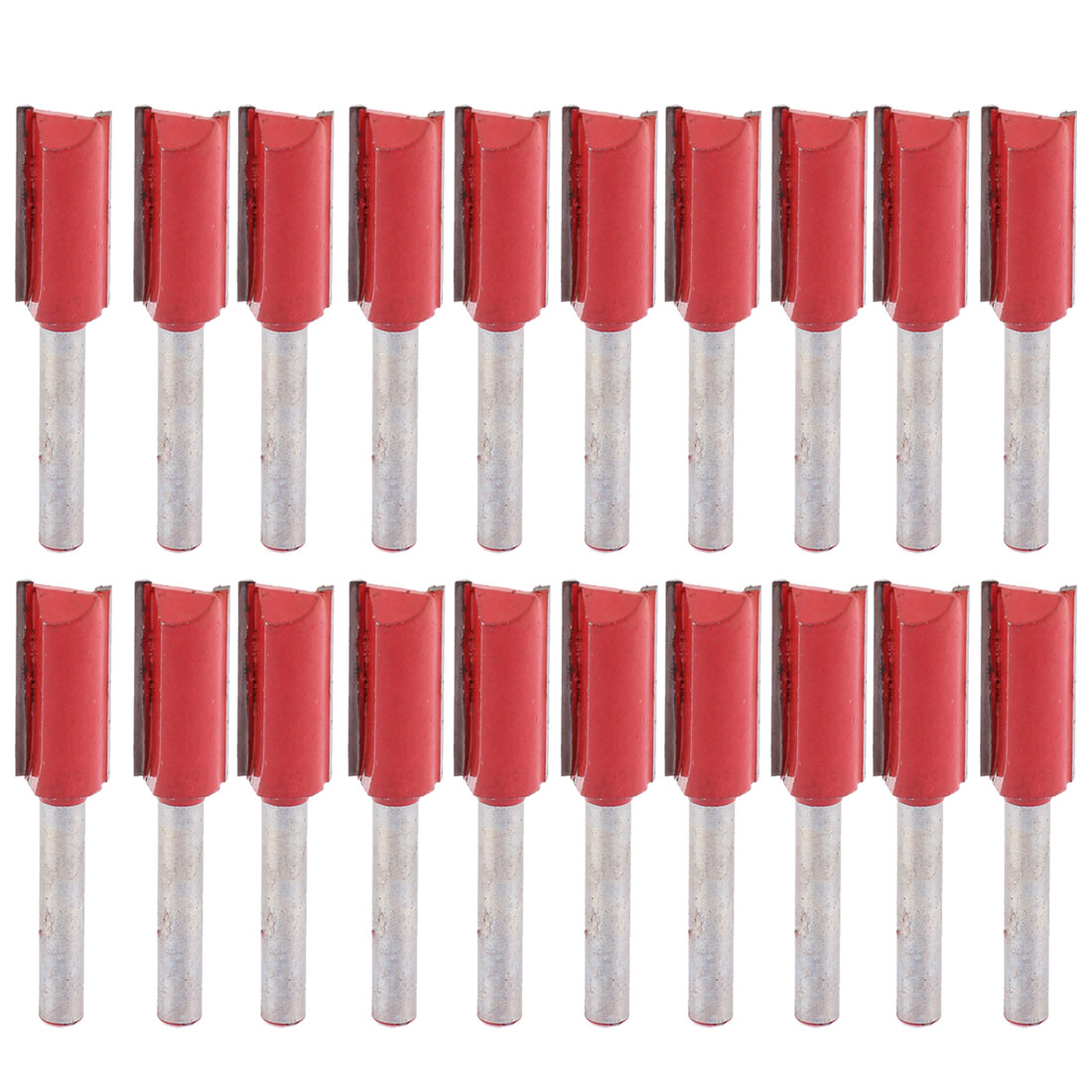 """20pcs 1/4"""" x 1/2"""" Double Flutes Straight Router Bits Cutter Tool for Woodworker"""