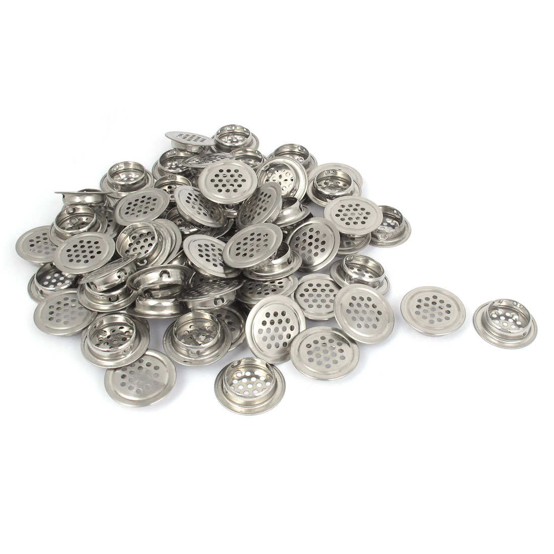 38mm Diameter Flat Stainless Steel Cabinet Mesh Hole Air Vent Louver 100pcs