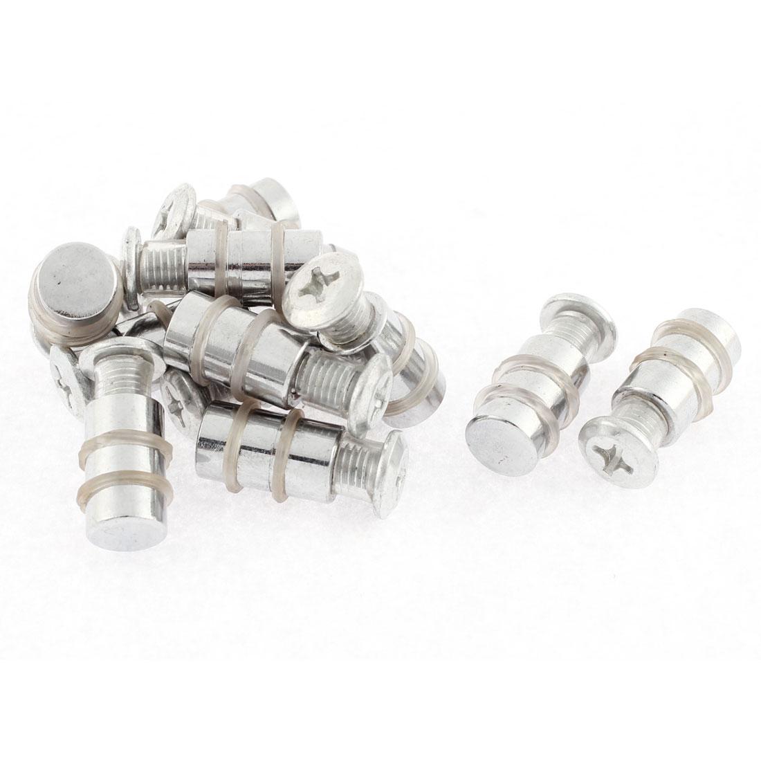 Furniture Shelf 6mm Thread Dia Single Head Metal Studs Pegs Supports Pin 12 Pcs