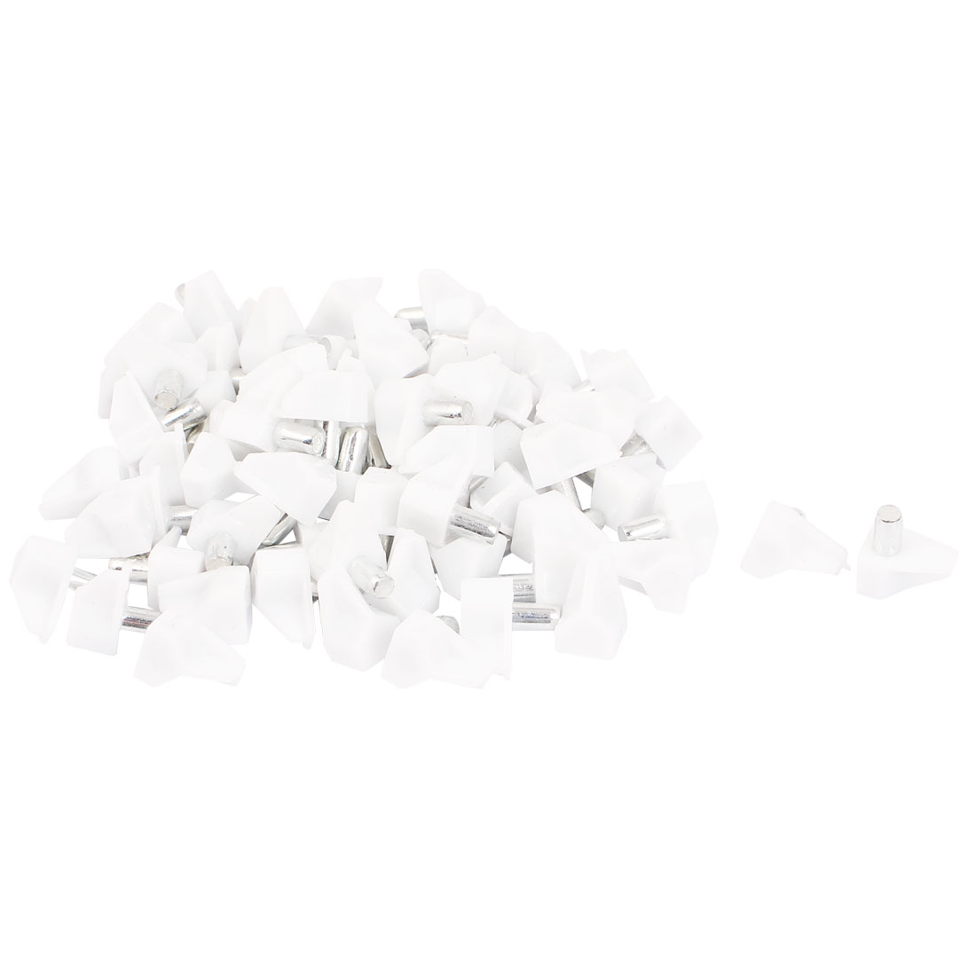 Cabinet Cupboard 5mm Push in Shelf Support Pins Plastic Pegs Studs White 70pcs