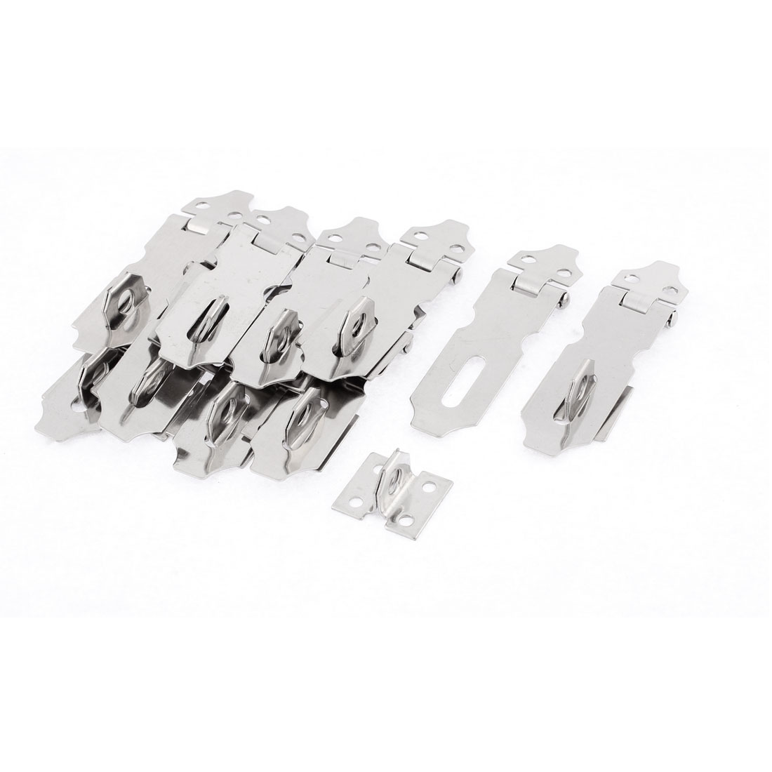 Warehouse Cabinet Stainless Steel Padlock Hasp Staple Set 59mm Length 10 Pcs
