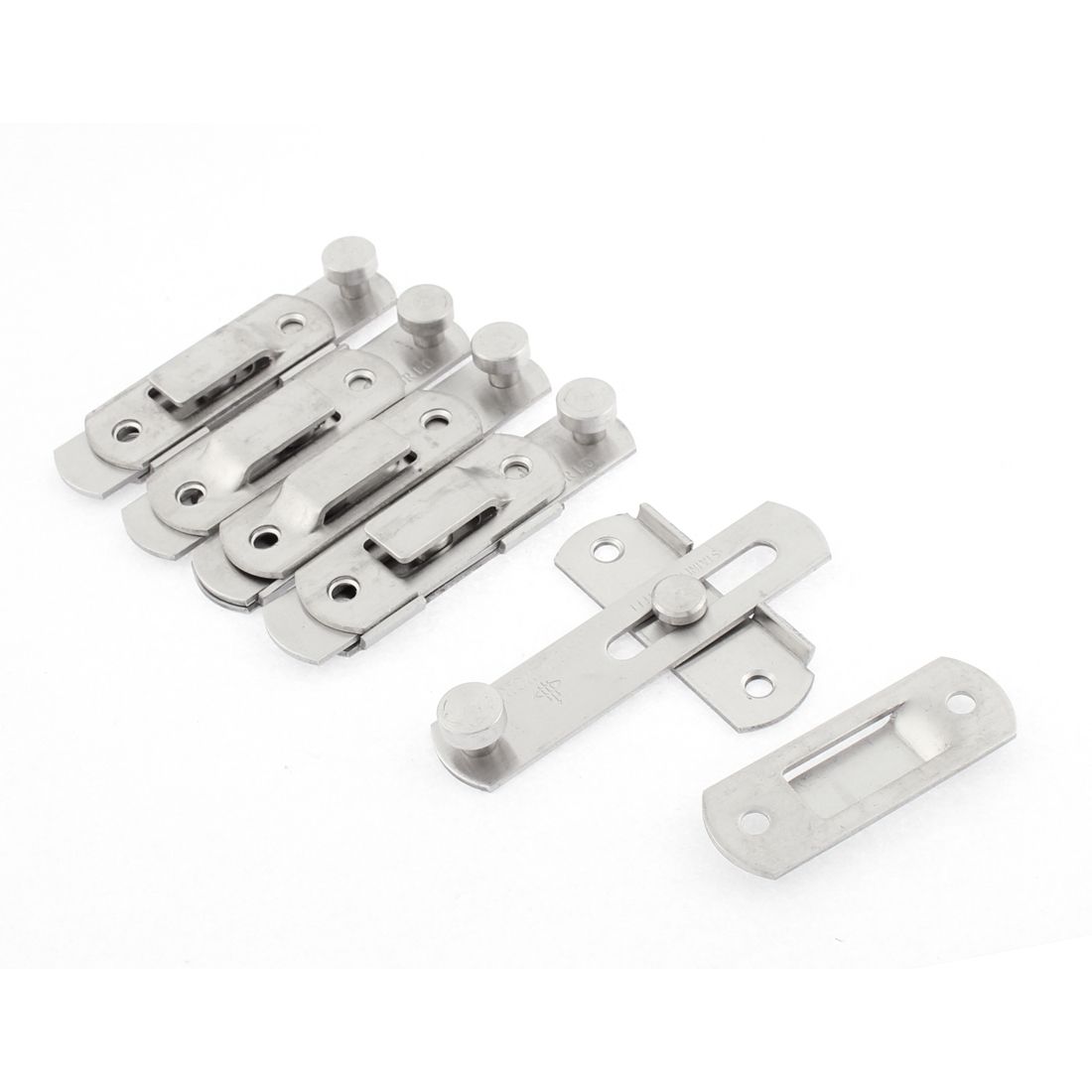 Home Safety Door Chain Restrictor Lock Guard Latch 4 Inch Length 5pcs