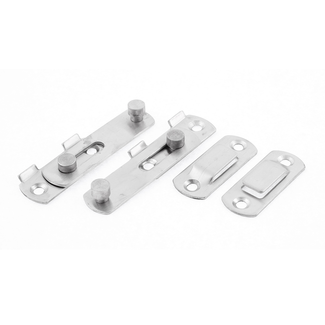 Home Metal Safety Door Chain Restrictor Lock Guard Latch 70mm Length 2 Pcs