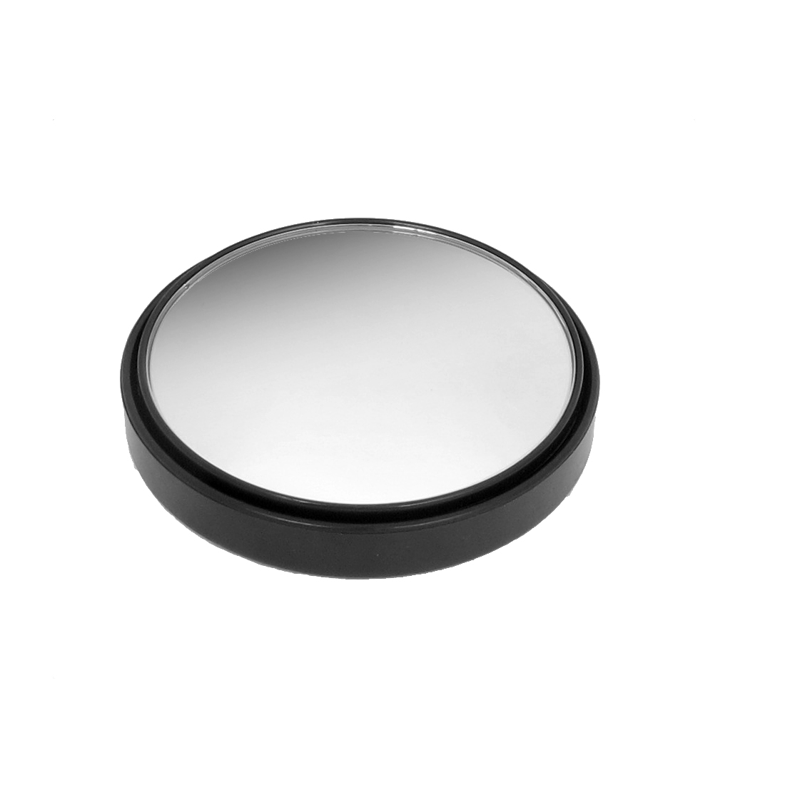Car Self Adhesive Base 80mm Dia Black Plastic Shell Round Convex Rearview Blind Spot Rear View Mirror
