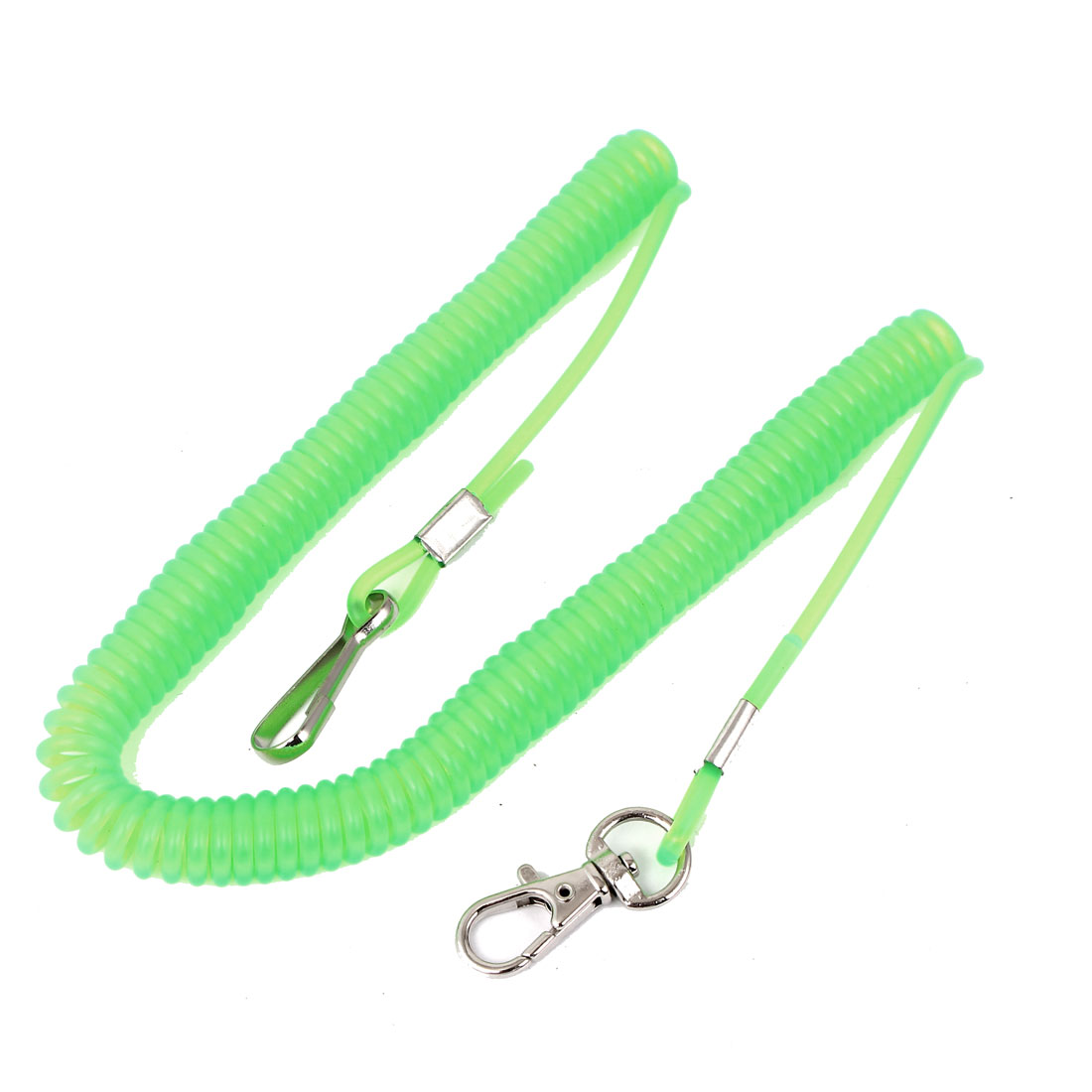 10Ft 3Meter Retractable Stretchy Coiled Fishing Lanyard Rope String Cable Safety Line Green