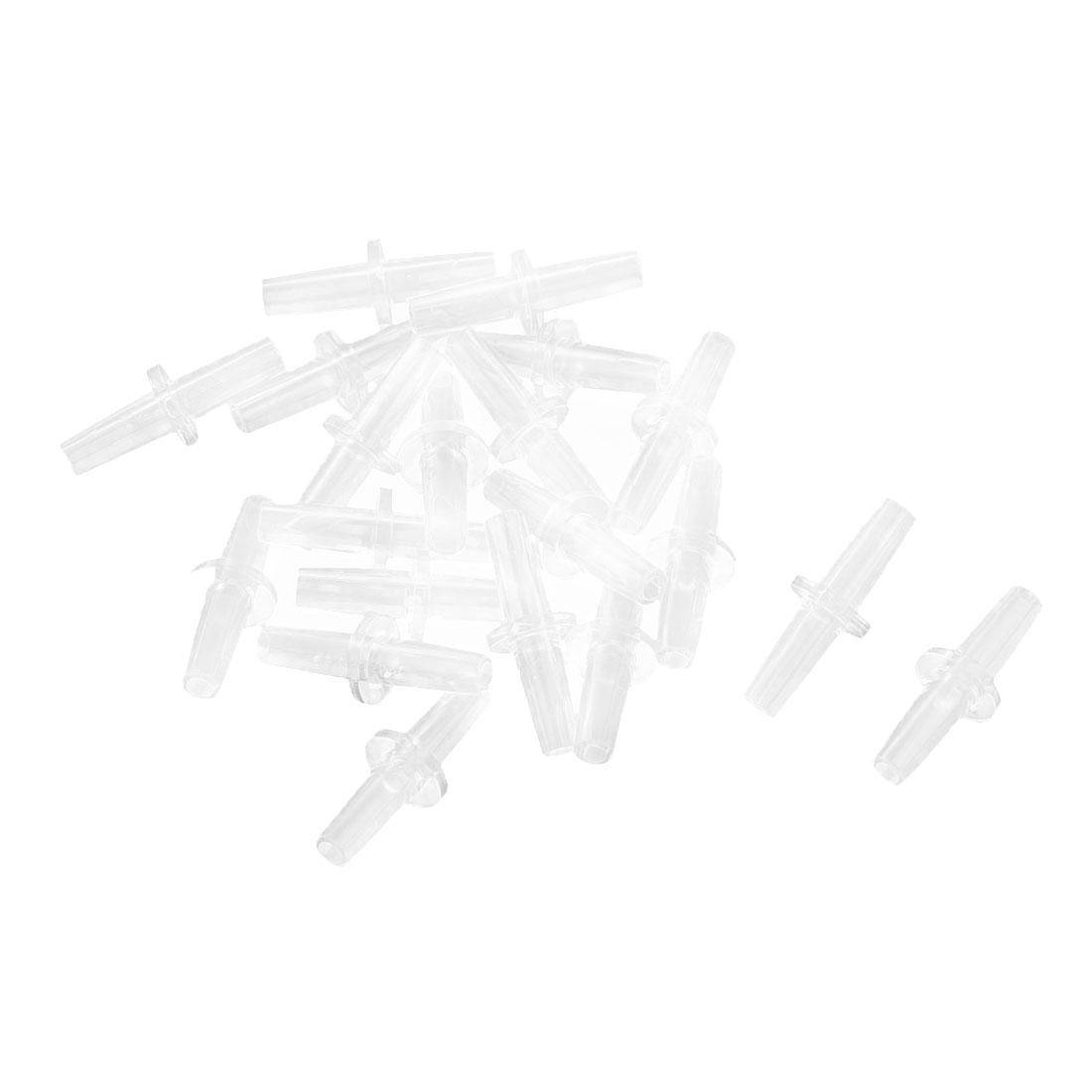 20 Pcs Clear Plastic 2 Way Aquarium Oxygen Pipe Air Airline Tube Pump Valve Connector Tubing