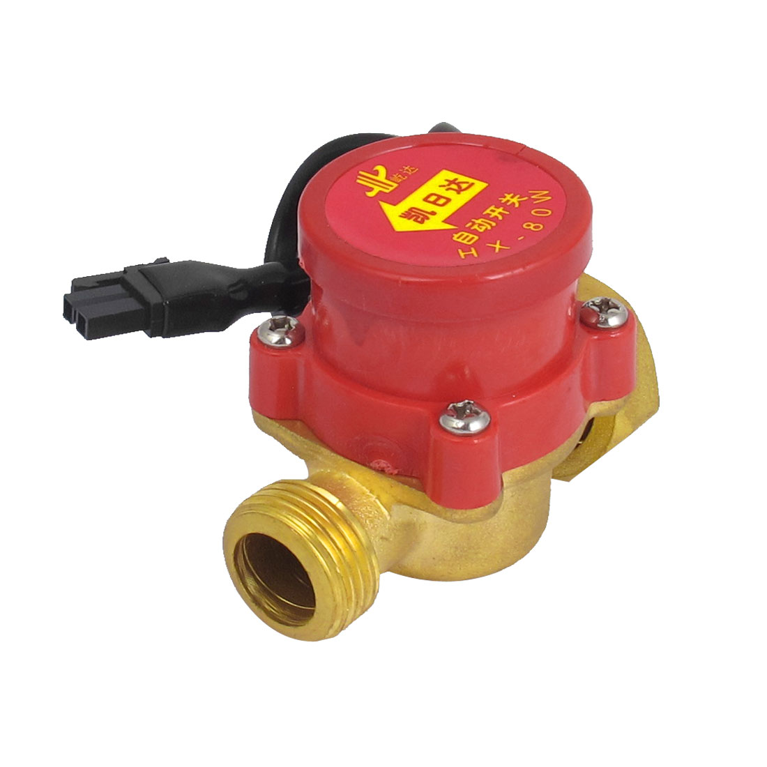 DC 250V 10A 0.6MPa 0.75-5L/min 80W 1/2BSP Male to 3/4BSP Female Thread Water Fluid Flow Sensor Control Switch