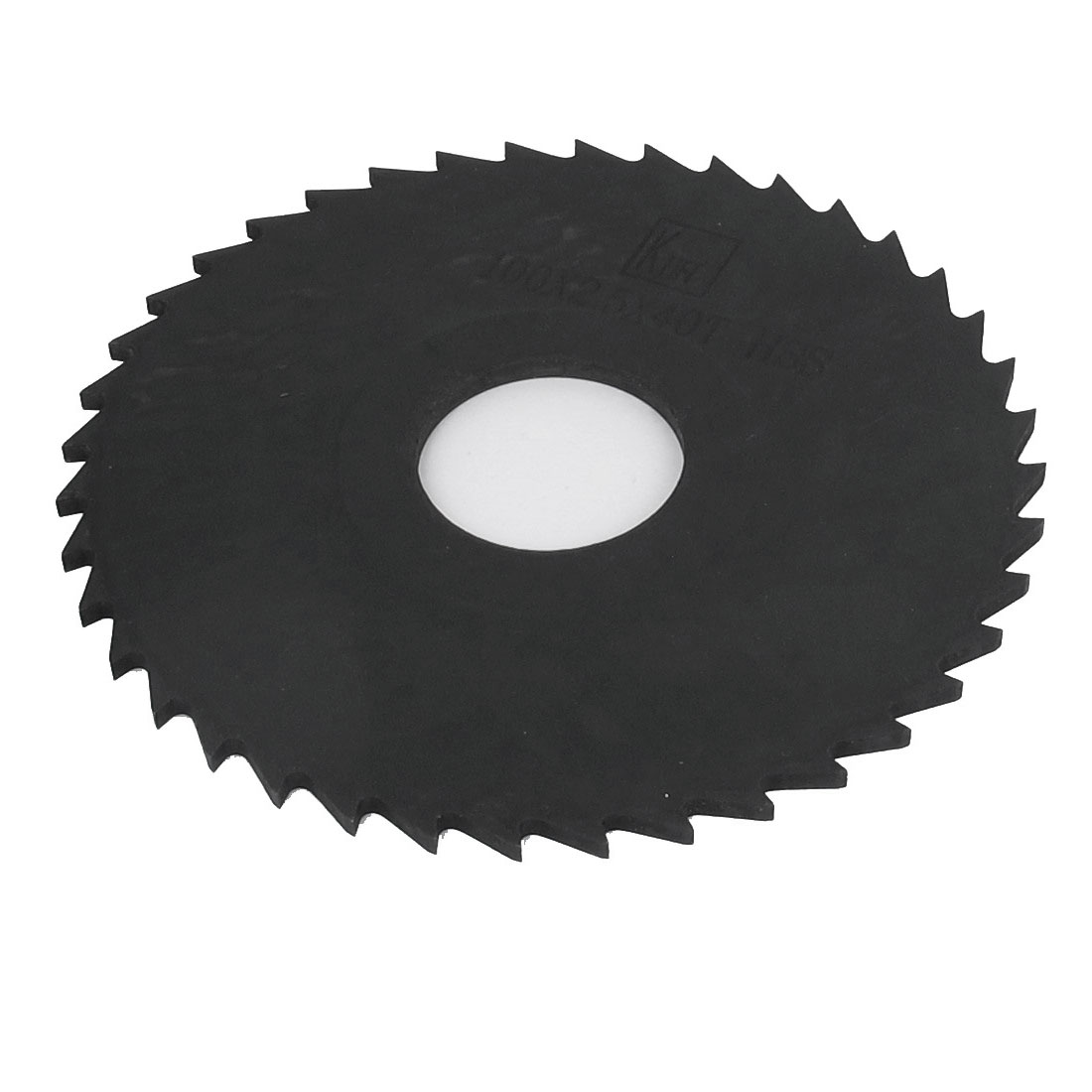 "4"" 100mm Outer Dia Black HSS 40T Tooth Type Round Slitting Saw Cutter Cutting Tool"