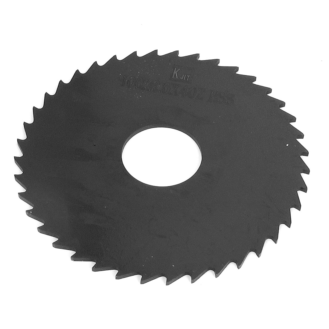 "4"" 100mm Outer Dia Black HSS 40 Teeth Round Slitting Saw Cutter Cutting Tool"