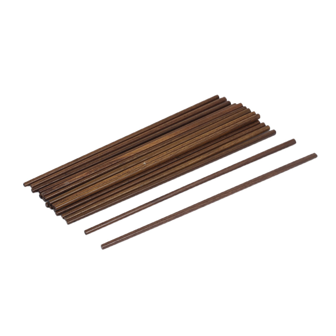 "Resterant Kitchen Chocolate Color Wooden Chopsticks Tableware 9.6"" 24.5cm Length 10 Pairs"