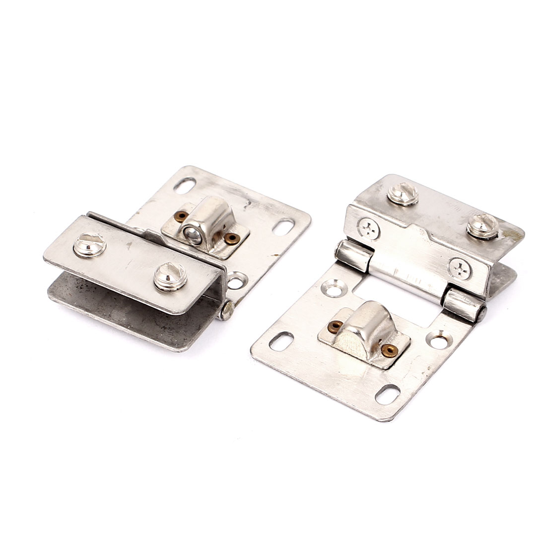 Stainless Steel 8mm Thickness Glass Shelf Clips Clamps Support Bracket 2pcs