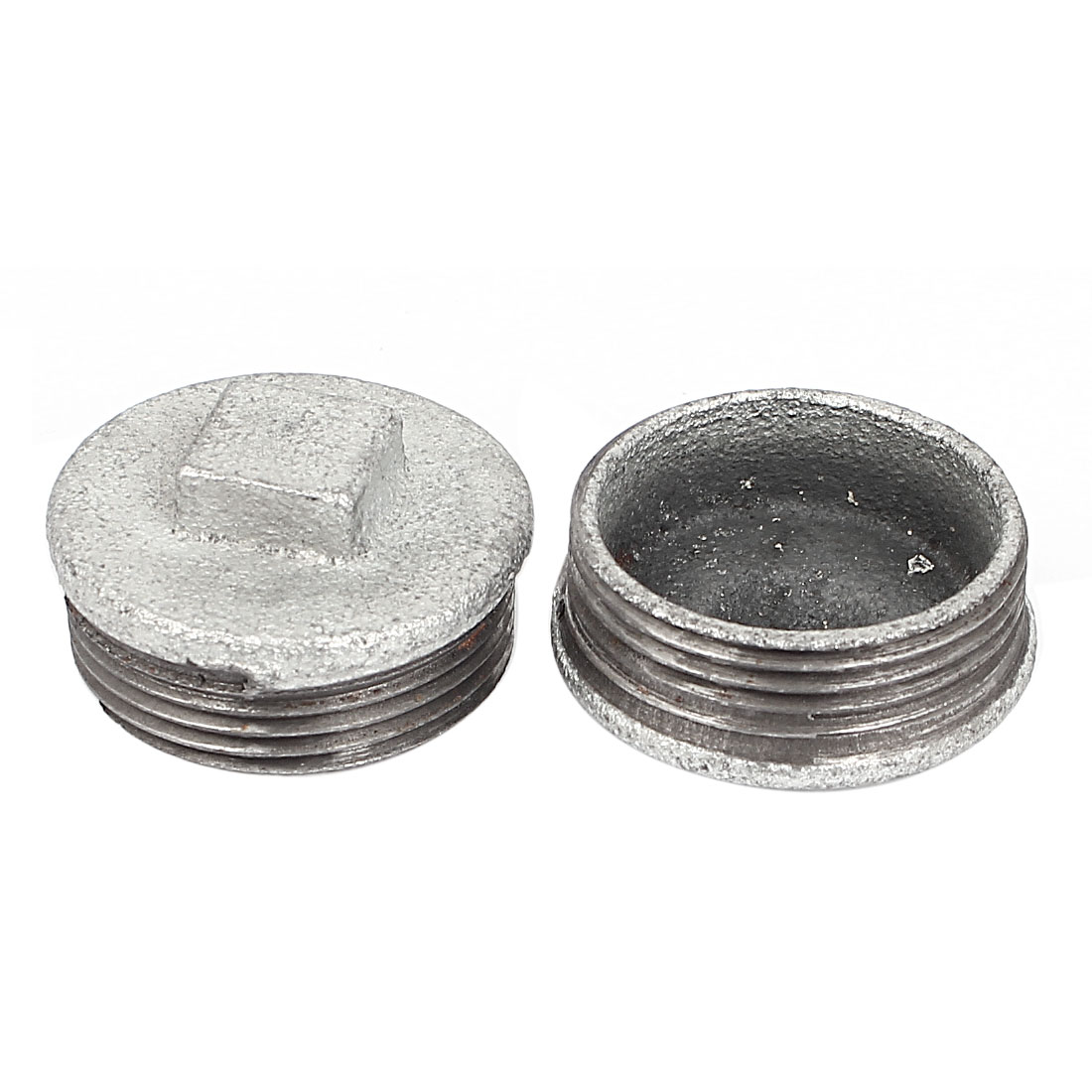 Metal 1 1/4BSP Male Threaded Brewing Square Head Water Pipe 2Pcs