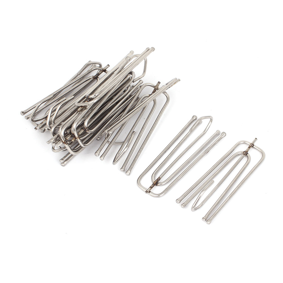 Stainless Steel Deep Pinch Prong Window Curtain Pleat Hooks Pleater 15pcs