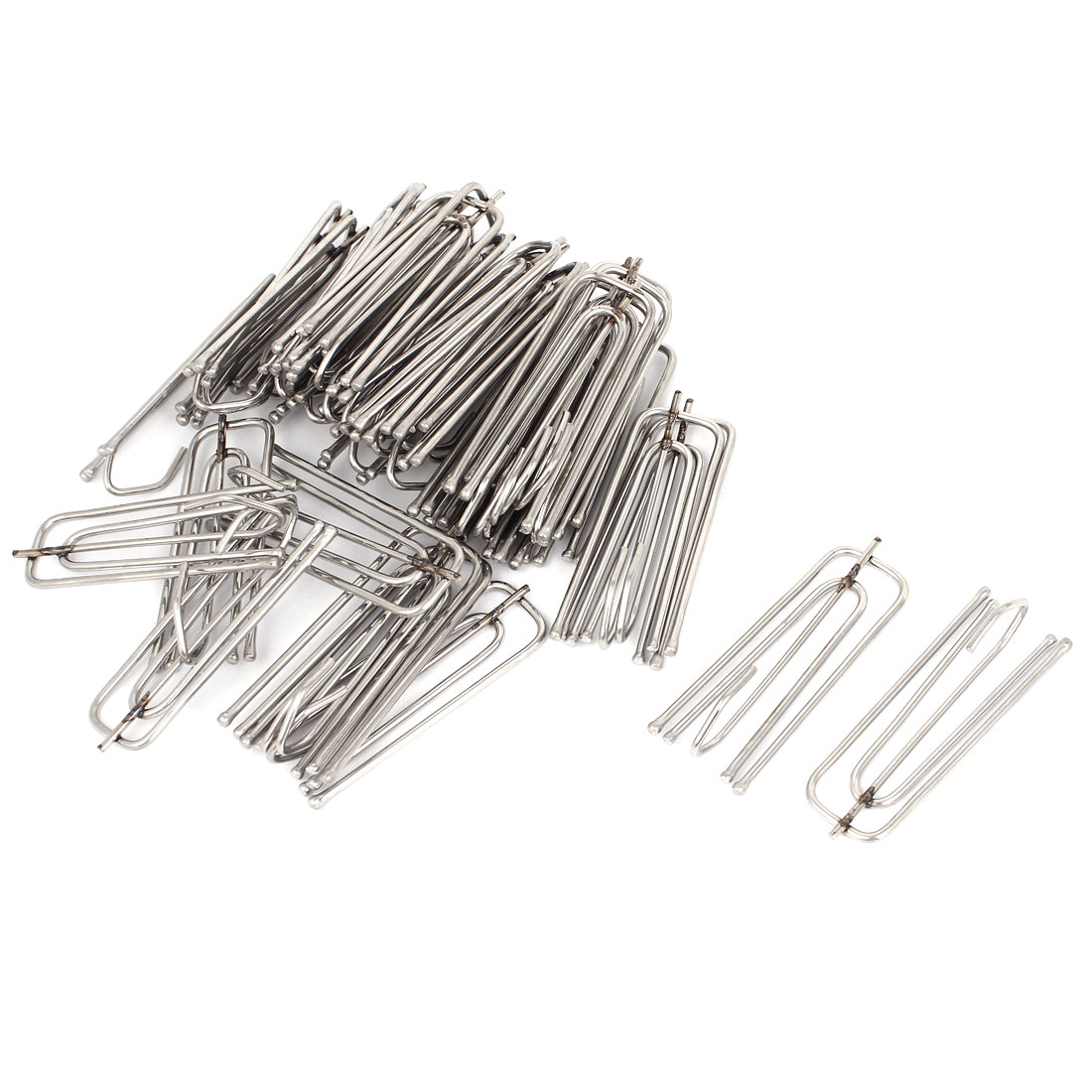 Stainless Steel Deep Pinch Prong Window Curtain Pleat Hooks Pleater 35pcs