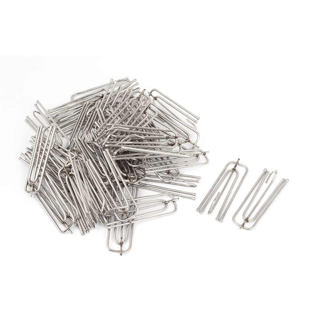 Stainless Steel Deep Pinch Prong Window Curtain Pleat Hooks Pleater 45pcs