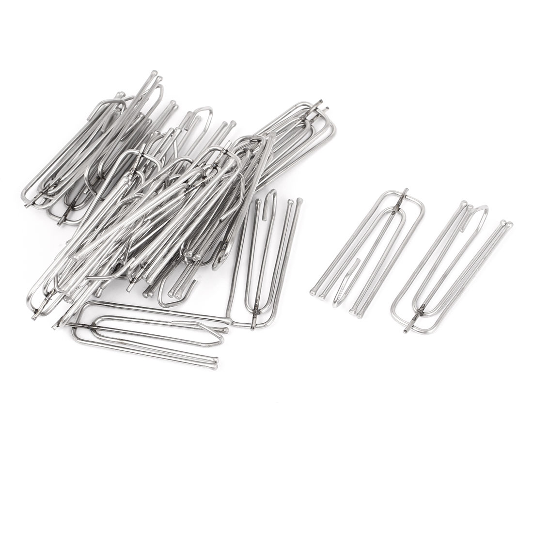 Stainless Steel Deep Pinch Prong Window Curtain Pleat Hooks Pleater 25pcs