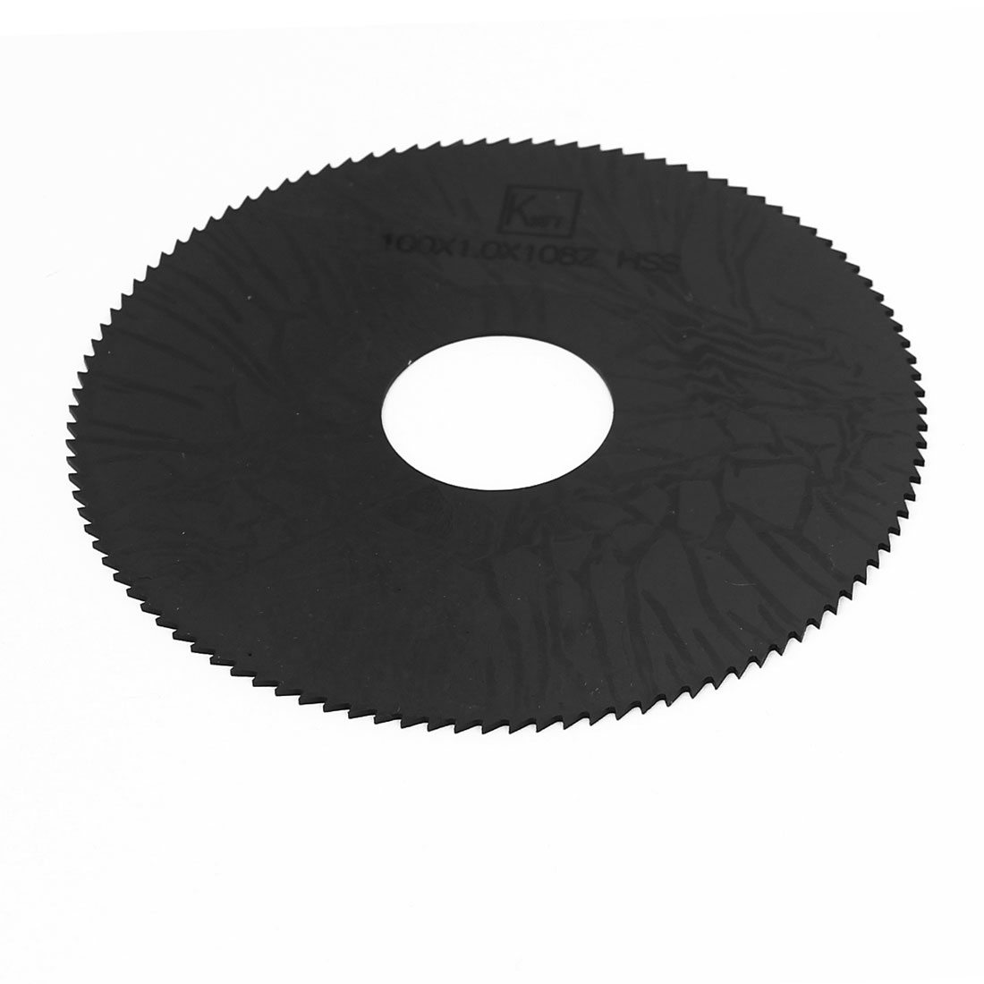 100mm x 1mm x 27mm 108T Teeth HSS Slitting Saw Cutter Black