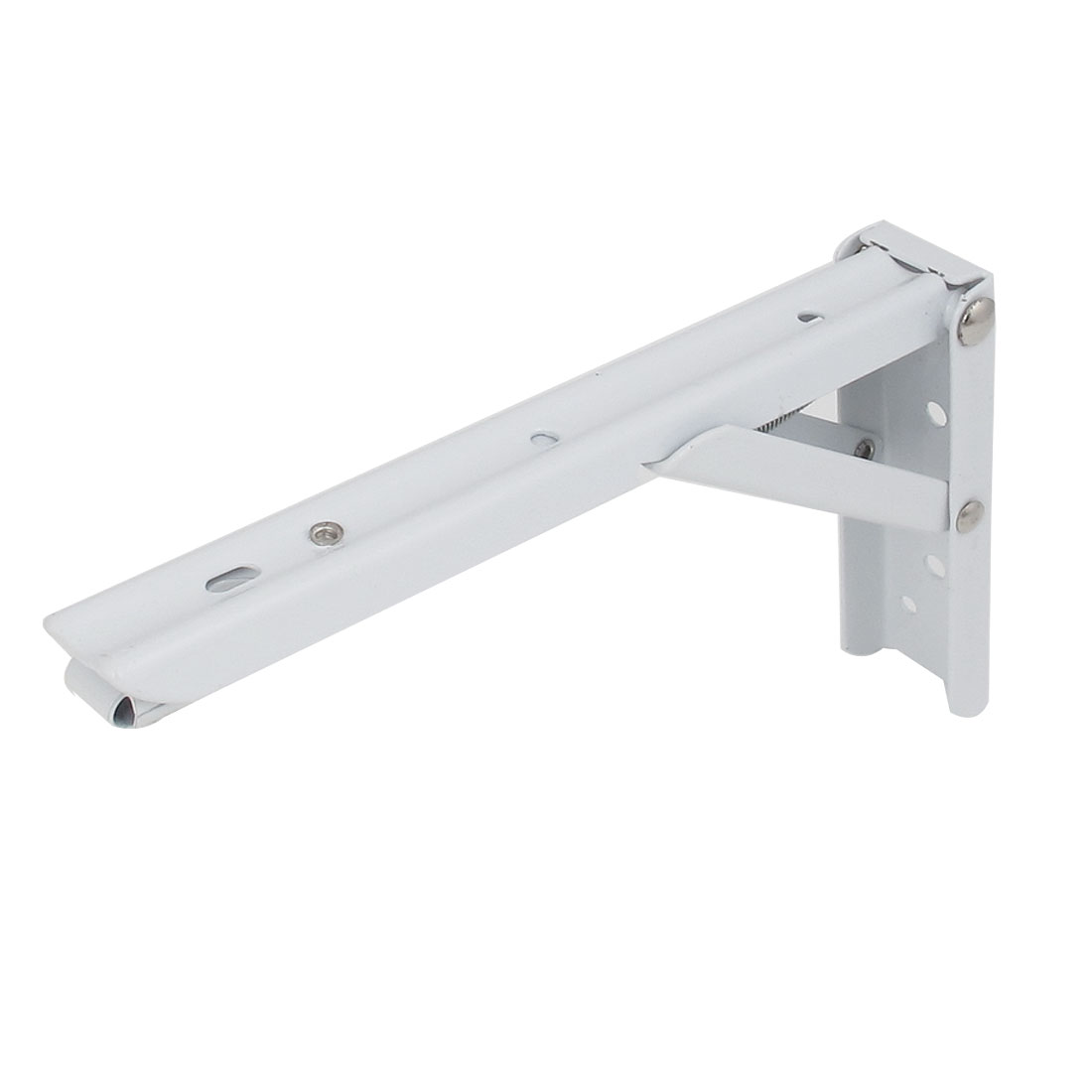 20cmx11.5cm L Shaped Metal Right Angle Folding Shelf Bracket White