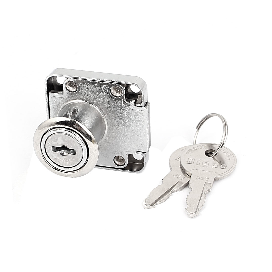 28mm High Cabinet Toolbox Cupboard Security Zinc Alloy Door Lock w 2 Keys