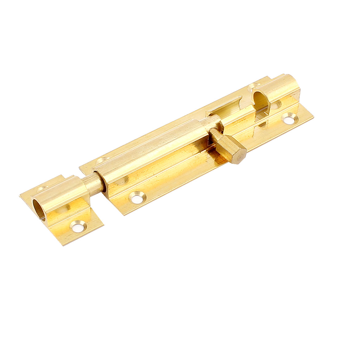 "3"" Long Brass Door Security Latch Sliding Lock Barrel Bolt Gold Tone"