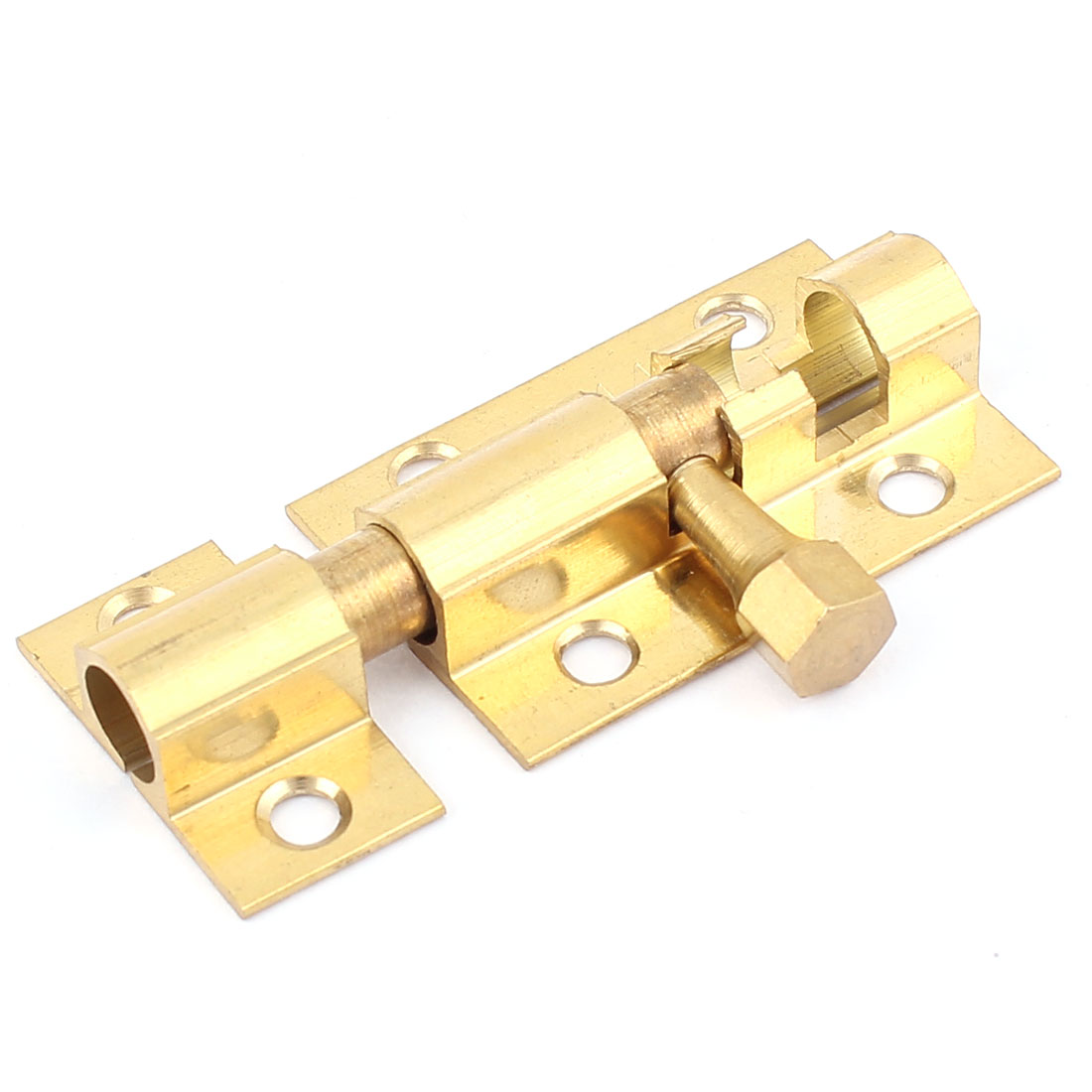"1.5"" Long Brass Door Security Latch Sliding Lock Barrel Bolt Gold Tone"