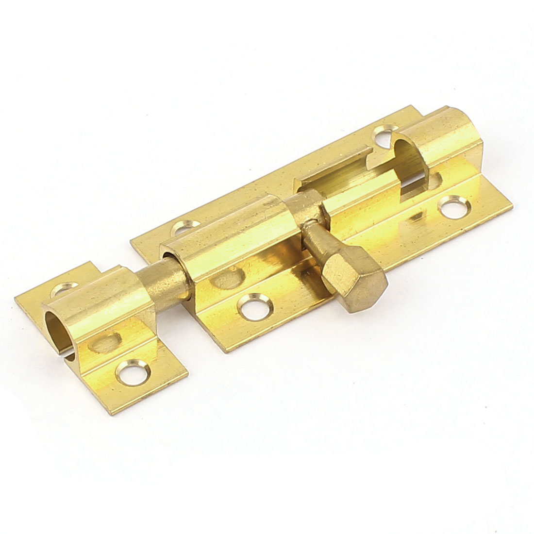 "2"" Length Brass Door Security Latch Sliding Lock Barrel Bolt Gold Tone"
