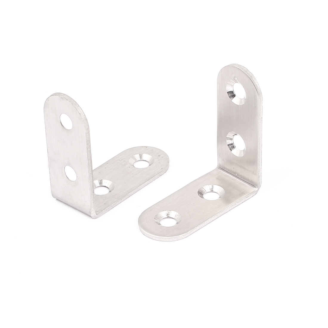 40mmx40mm L Shape Stainless Steel Shelf Wall Corner Brace Right Angle Bracket 2pcs