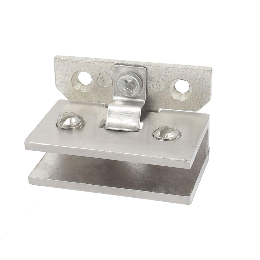 Zinc Alloy 6mm Thick Glass Shelf Shower Door Clip Clamp Support Bracket