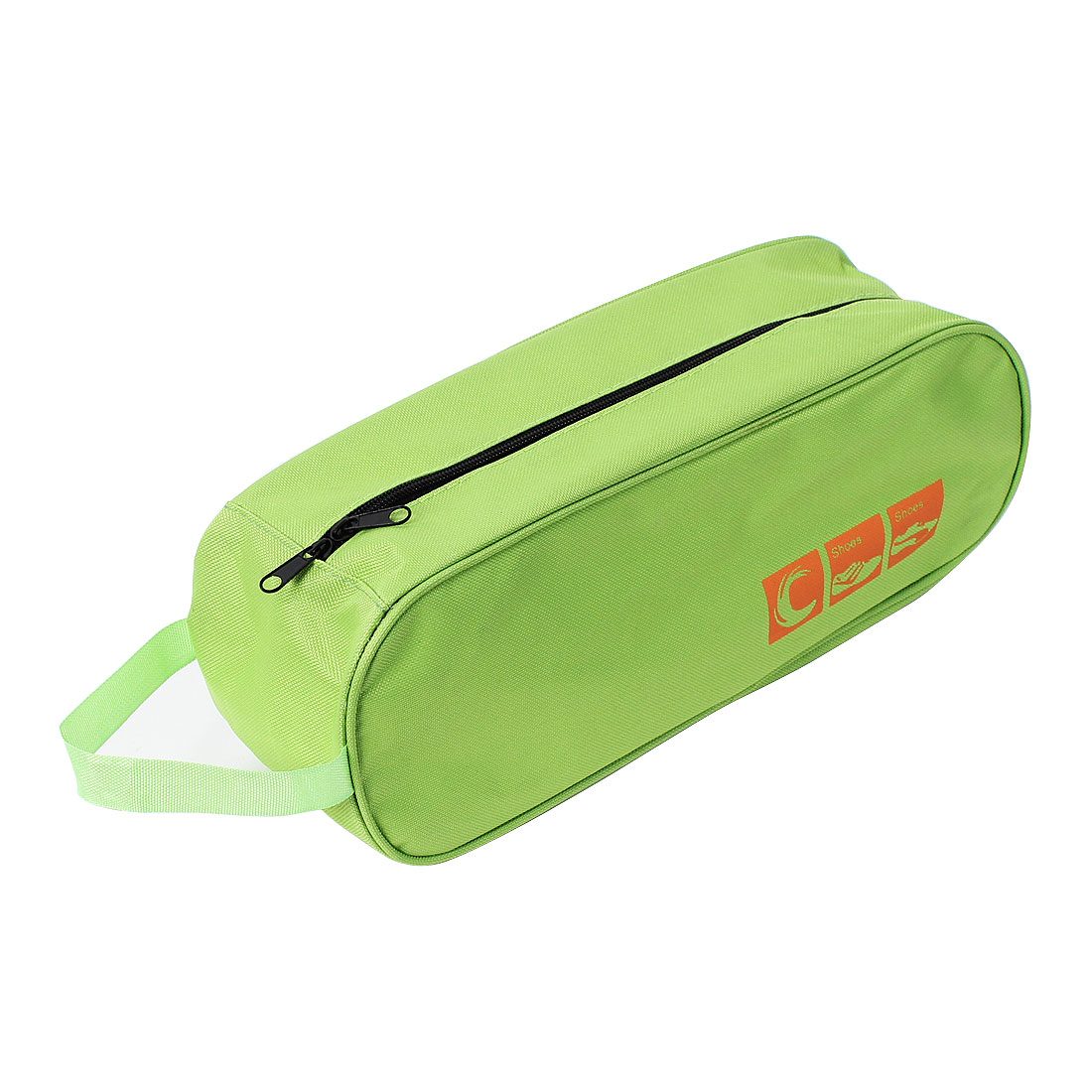Nylon Zipper Closure Design Travel Storage Shoe Tote Dust Bag Case Green