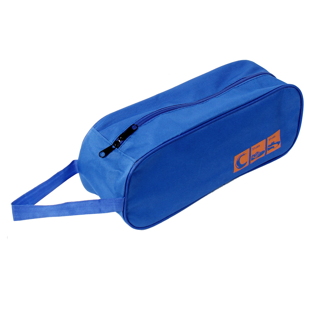 Nylon Zipper Closure Design Travel Storage Shoe Tote Dust Bag Dark Blue