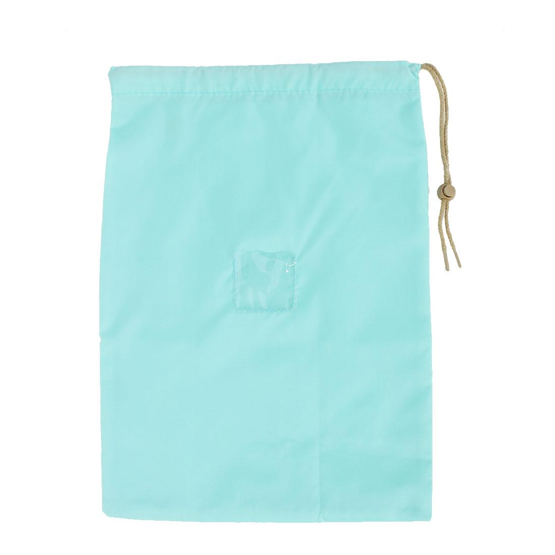 Travel String Clothes Shoes Storage Drawstring Bag 37 x 26cm Light Green
