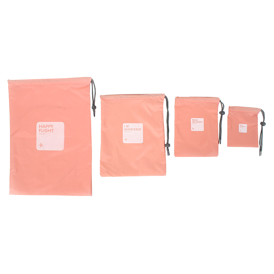 4 in 1 Travel Luggage Storage Organizer Packing Bags Drawstring Pouch Pink
