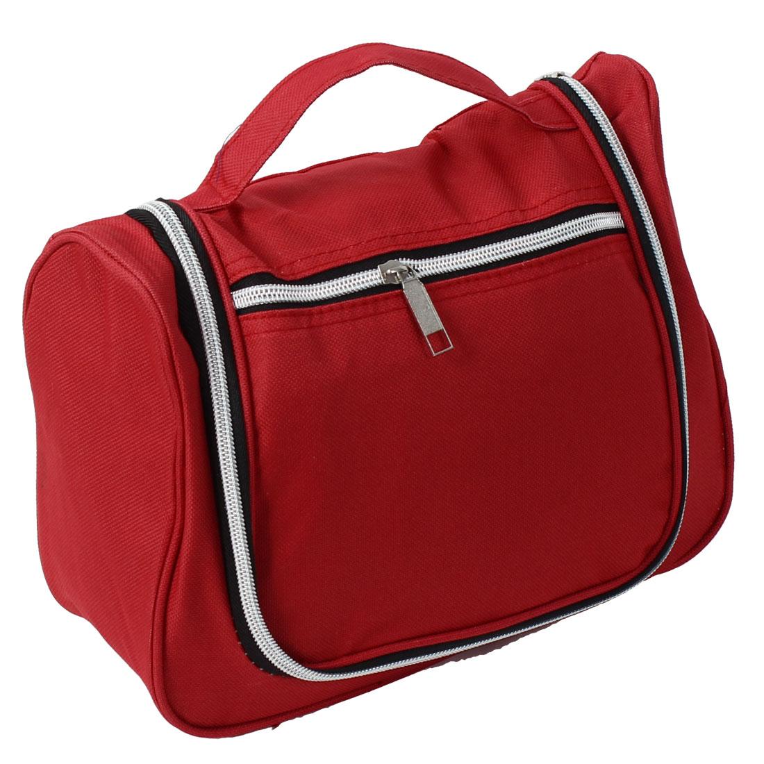 Travel Toiletry Makeup Case Wash Storage Bag Organizer Red