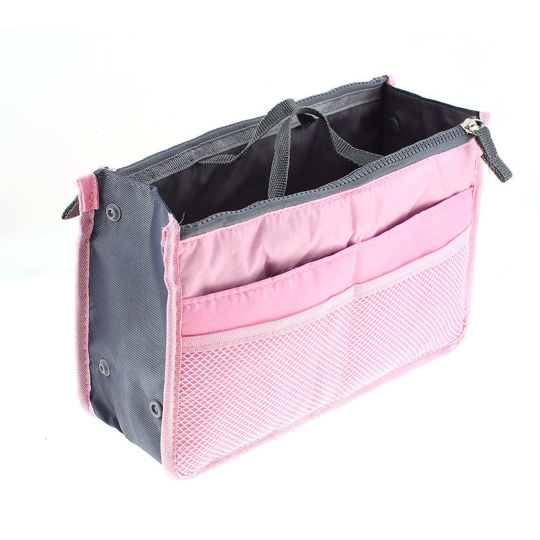 Travel Mesh Cosmetic Bag Case Multifunction Buggy Pouch Pink
