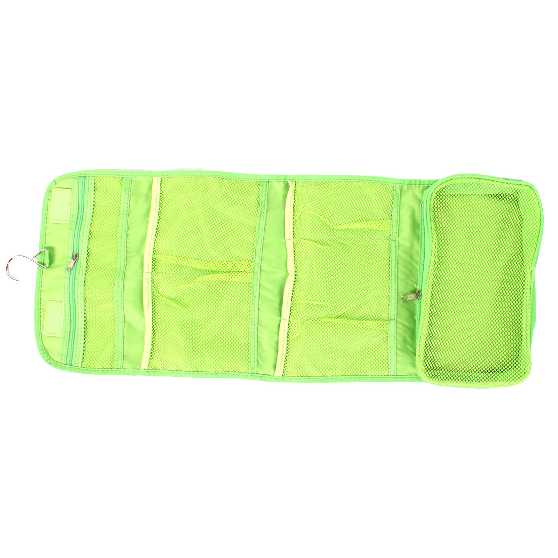Women Travel Storage Cosmetic Bag Toiletry Pouch Case Green w Hanging Hook