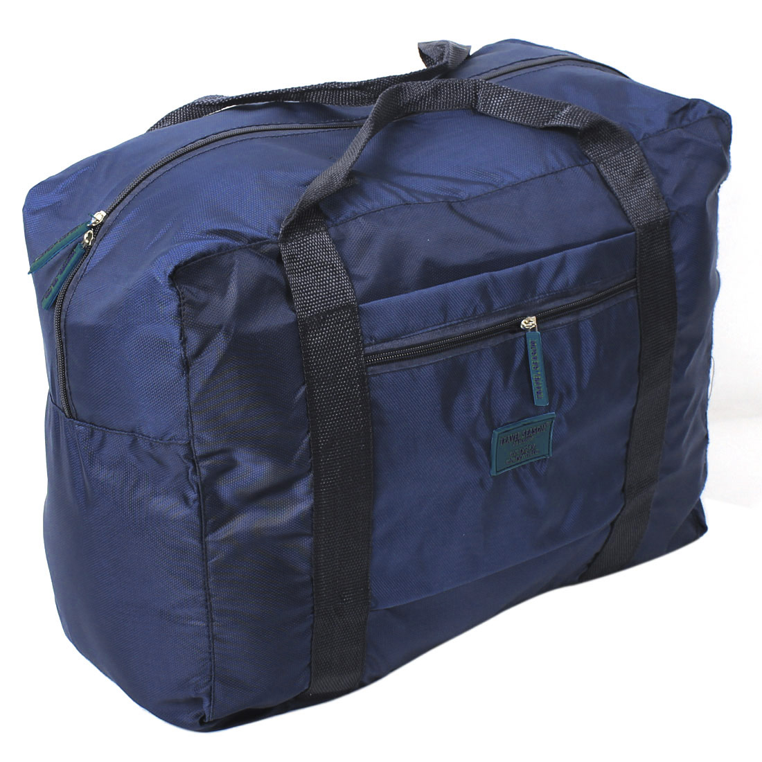 Nylon Foldable Portable Travel Luggage Clothes Storage Bag Dark Blue