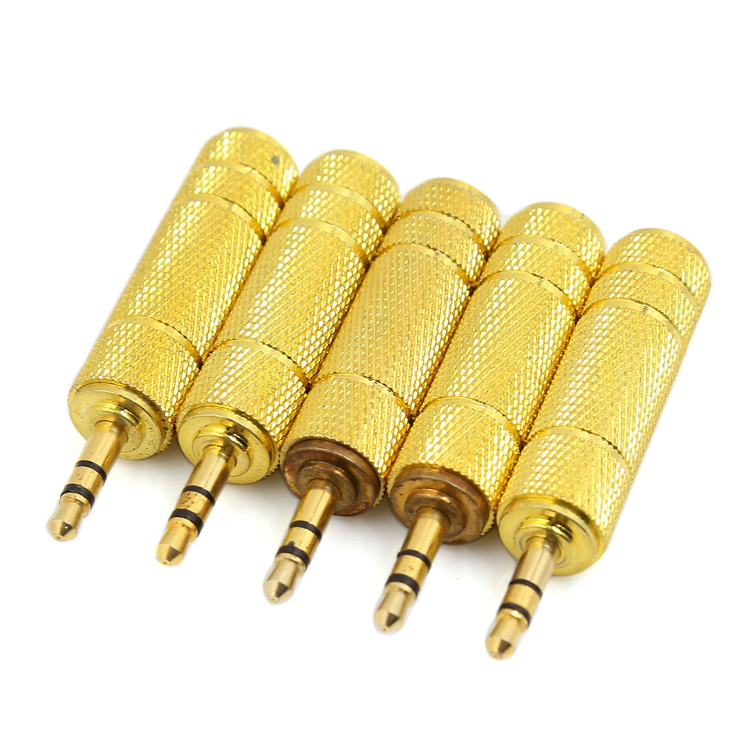 5 Pcs 3.5mm Male to 6.5mm Female Jack F/M Audio Stereo Connector Adapter 55mm Length