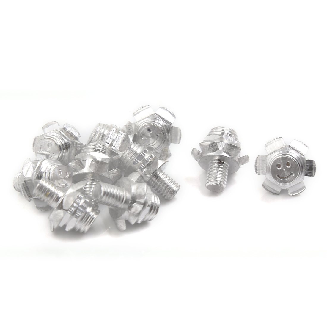 10 Pcs Flower Shaped Motorcycle License Plate Frame Decorative Screws 24mm x 8mm