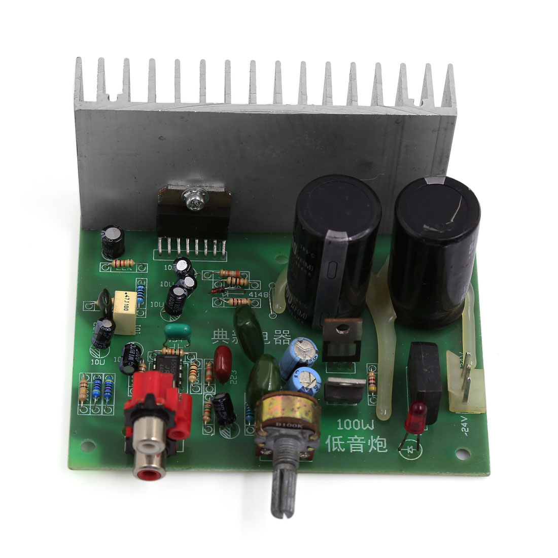 18V-26V 100W LFE Subwoofer Audio Stereo Power Amplifier Board for Motorcycle
