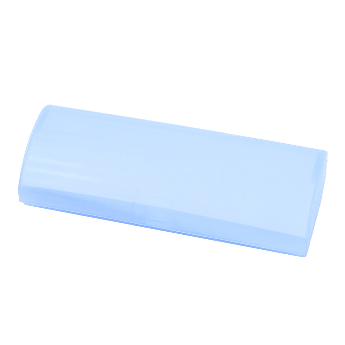 Plastic Eyewear Eyeglasses Case Holder Box Container Clear Light Blue
