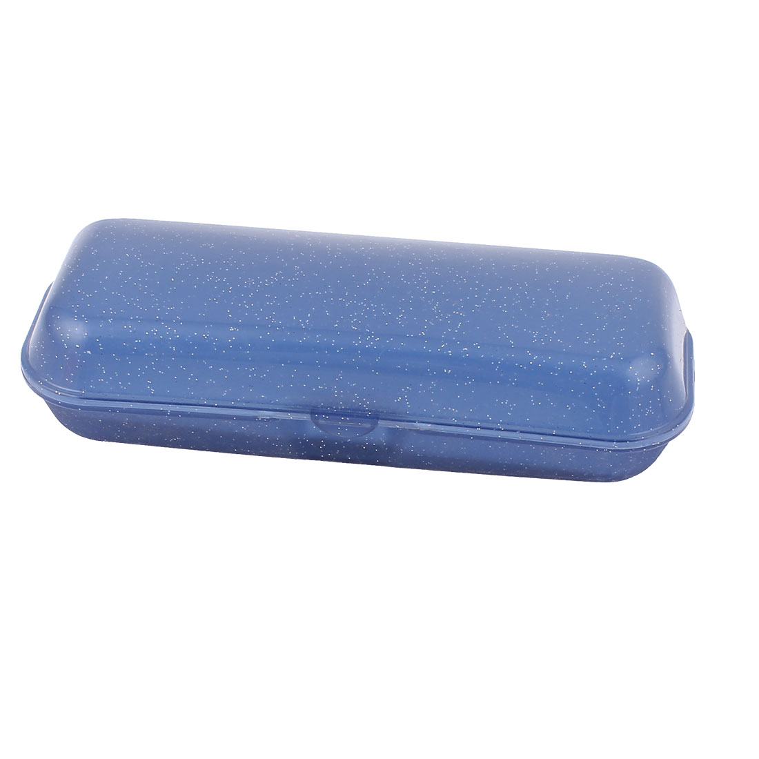 Eyeglass Sunglass Dot Pattern Hard Case Eyewear Storage Box Blue