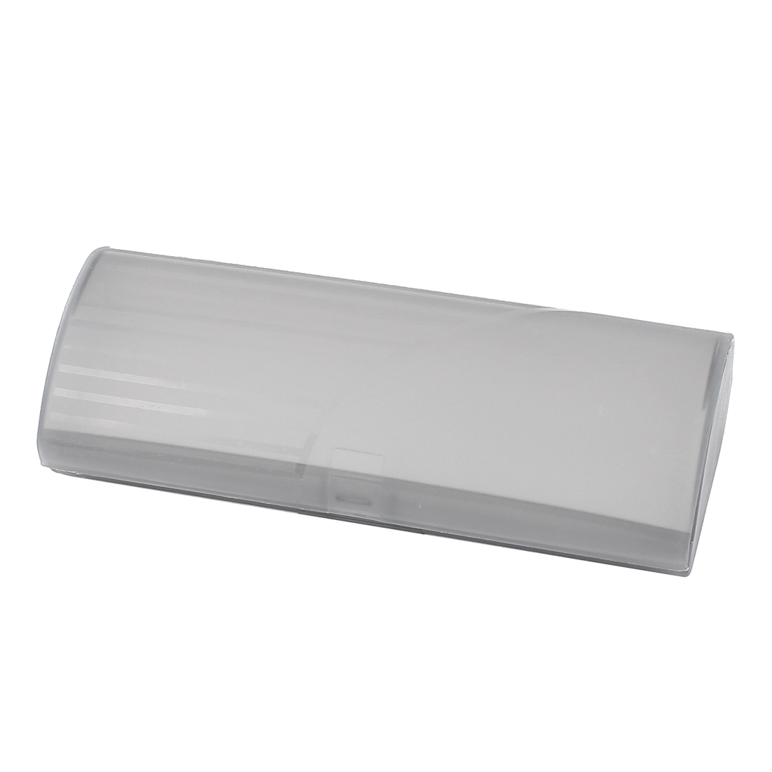 Press Clousre Plastic Rectangular Eyeglasses Case Holder Box Gray