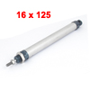 16mm Bore 125mm Stroke Dual Actuator Single Rod Pneumatic Air Cylinder